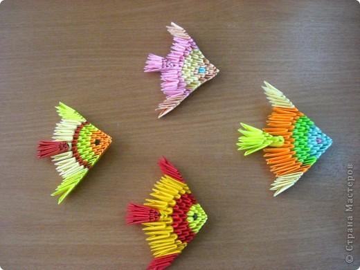 модульное: Рыбки Бумага
